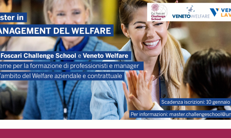 Veneto Welfare e Veneto Lavoro partner del Master in Management del Welfare