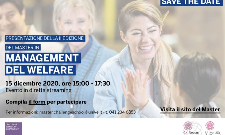 Presentazione del Master in Management del Welfare – MAWE.